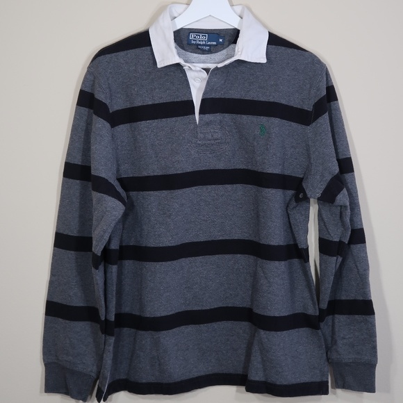 Polo by Ralph Lauren Other - Polo by Ralph Lauren Striped Gray Long-Sleeve Polo